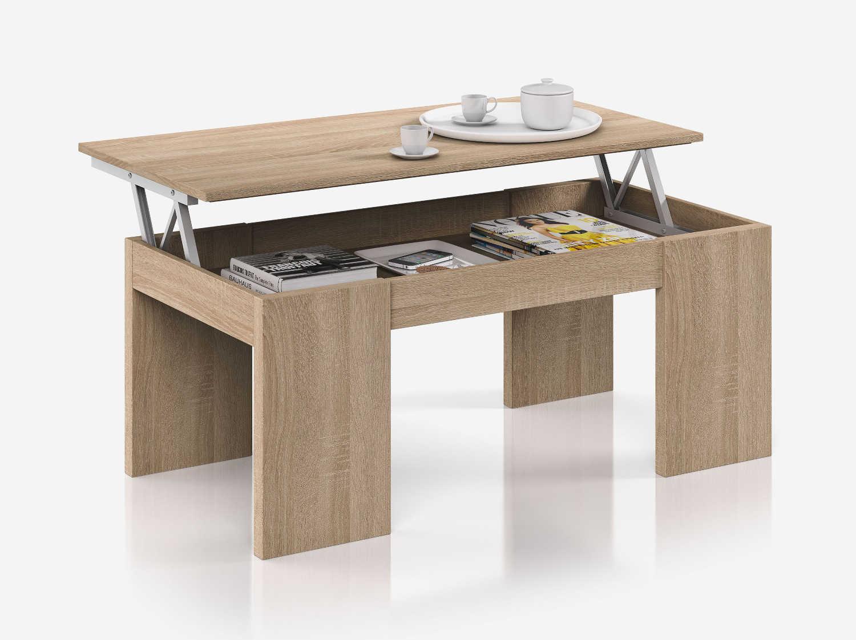 relevableChêne avec basse KENDRA un Table plateau hCQrsdtx