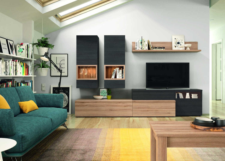 Meuble Tv Living Salon neo meuble tv 270 cm (gris anthracite & chêne)